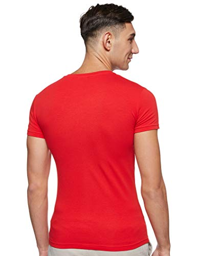 Emporio Armani Men's Megalogo Crew Neck T-Shirt, Red, X-Large image https://images.buyr.com/ZdNxFl6yCByIC6sSx1nRNA.jpg1