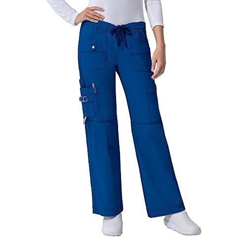 Dickies Gen Flex Women's Junior Fit 'Youtility' Top 817455 GenFlex Women's Low Rise Drawstring Cargo Pant 857455 Scrub Set (Royal - Medium/Medium Petite) image https://images.buyr.com/aMEYKZ_Du9x0LRGrip5NEg.jpg1