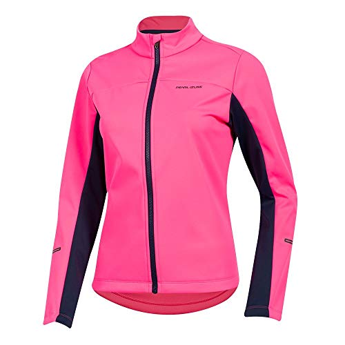 PEARL IZUMI Women's Quest AmFIB Jacket, Screaming Pink/Navy, Medium image 1