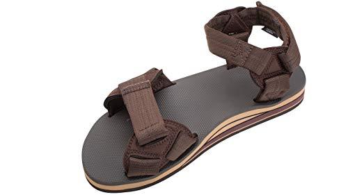 Rainbow Sandals Men's Double Layer Rubber Trekker w/Adjustable Velcro Straps Brown, Men's Large / 9.5-10.5 D(M) US image 1