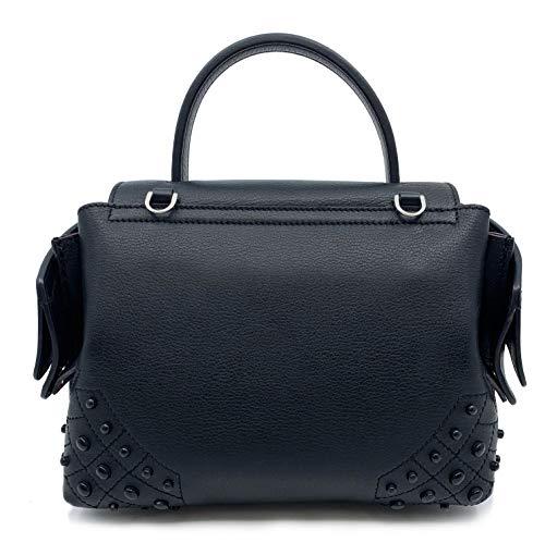 Tod's Wave Micro Gommini Black Leather Ladies Satchel Bag XBWAMRWD001MTI-B999 image https://images.buyr.com/eIPaSDkM5KA2EP9iU9wLFA.jpg1