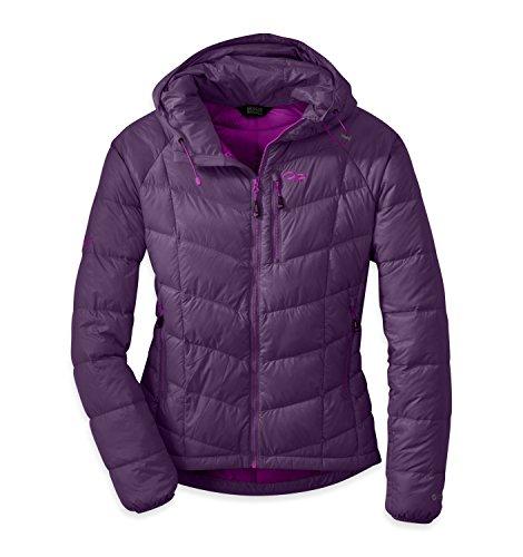 Outdoor Research Women's Sonata Hooded Down Jacket, Elderberry, S image 1