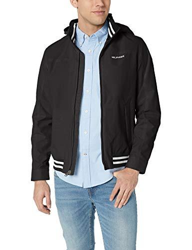 Tommy Hilfiger Men's Lightweight Waterproof Regatta Jacket, CS DEEP Knit Black, 2X-Large image 1