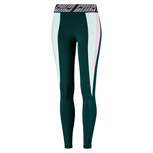 PUMA Own It Women's Full Tight - Large - Green image 1