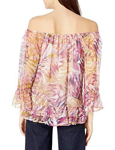 Lucky Brand Women's Palm Print Off The Shoulder Top, Multi, X-Small image https://images.buyr.com/gx0kkQUlluZNO_uVaplpPQ.jpg1