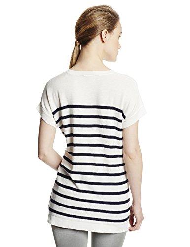 BCBGMAXAZRIA Women's Emmaline Striped High Low Hem Pullover Sweater, Navy Combo, Medium image https://images.buyr.com/h3ZTS7sKYNF1N2HAuTtNXQ.jpg1
