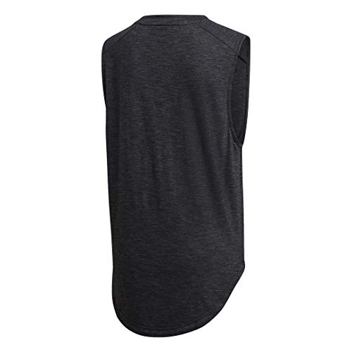adidas womens ID Winners Muscle Basketball Long Length Sleeveless Training Tank T-Shirt, Black/White, X-Small image https://images.buyr.com/havAqNXcAcuz4oJVeW_1uQ.jpg1