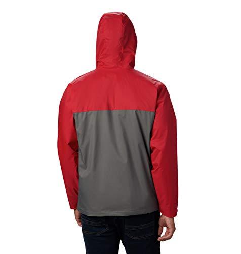 Columbia Men's Big-Tall Glennaker Lake Lined Rain Jacket, Waterproof & Breathable Outerwear, -City Grey/mountain Red, LT image https://images.buyr.com/heo8zxvQIBzWub7RF4uWbA.jpg1
