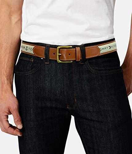 Tommy Hilfiger Men's Ribbon Inlay Belt - Ribbon Fabric Design with Single Prong Buckle, Khaki, 56 image https://images.buyr.com/igrI4hi-48RgCrBbbI_QqA.jpg1