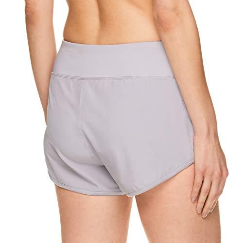 Reebok Women's Athletic Workout Shorts - Gym Training & Running Short - 3 Inch Inseam - Bravo Short Silver Sconce, Large image https://images.buyr.com/j2Y_9gDoS4VO7ljx2PXz-Q.jpg1