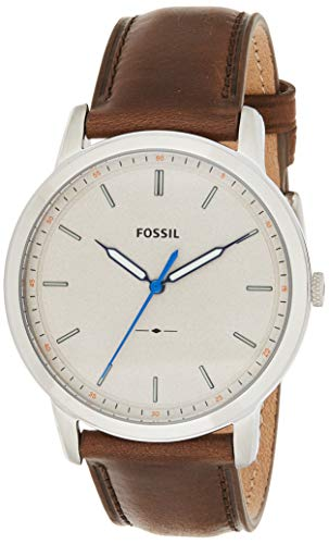 Fossil Men's FS5306 The Minimalist Three-Hand Brown Leather Watch image 1