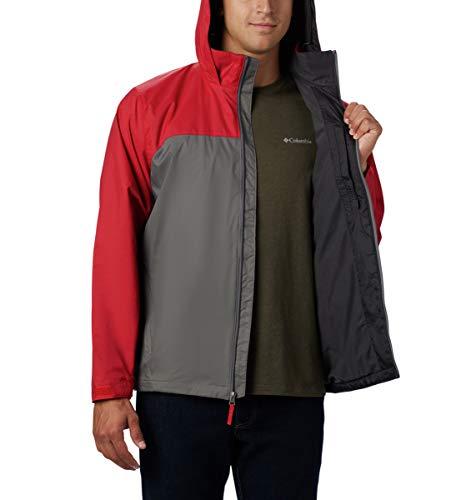 Columbia Men's Big-Tall Glennaker Lake Lined Rain Jacket, Waterproof & Breathable Outerwear, -City Grey/mountain Red, LT image https://images.buyr.com/loz_p47lYV5gxi93CyXqwA.jpg1