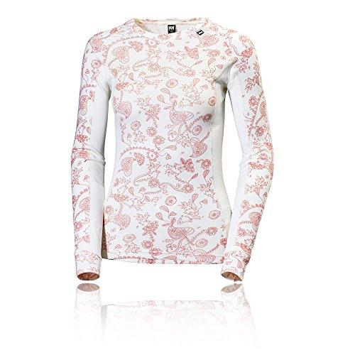 Helly-Hansen Women's HH Warm Ice Crew Long Sleeve Base Layer Shirt, White Jasico Print, Large image 1