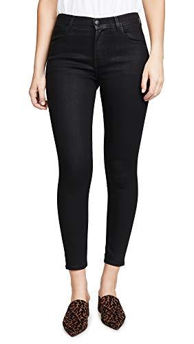 J Brand Women's Alana High Rise Crop Skinny Jeans, Fearful, Black, 29 image 1