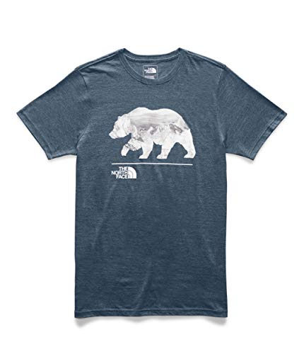 The North Face Men's Short Sleeve Bearinda Triblend Tee, Blue Wing Teal Heather, L image 1