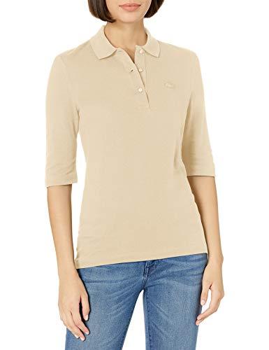 Lacoste Women's 3/4 Sleeve Pique Polo Shirt, SABLER, 10 image 1