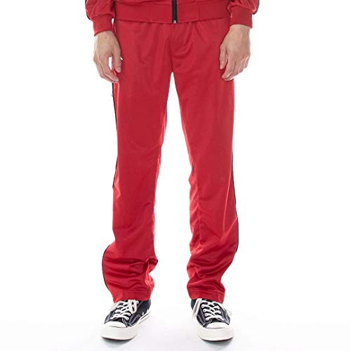 KAPPA MENS 222 BAND DISSO REFLECTIVE TRACKPANTS 311417W-A0T CHILLYPEPPER/GREY image 1