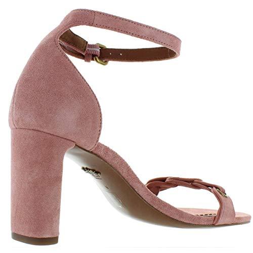 COACH Heel Sandal Peony Link Leather Suede 9 image https://images.buyr.com/r2GNM8JXF6lmhTdB7oapFQ.jpg1