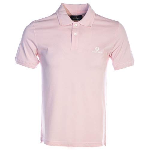 Belstaff Classic Short Sleeve Polo Shirt in Pink image 1
