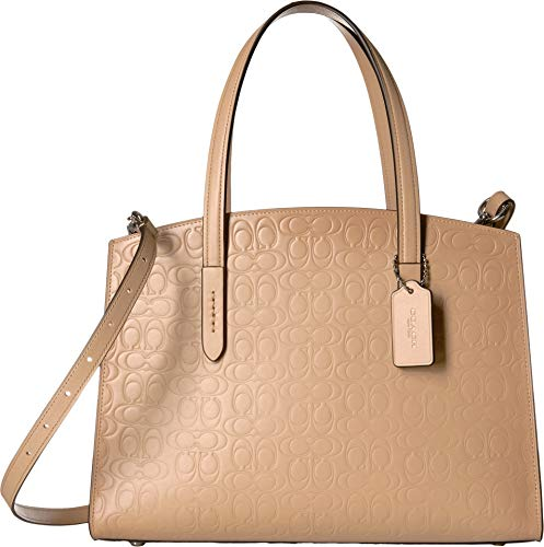 COACH Signature Leather Charlie Carryall Beechwood/Silver One Size image 1