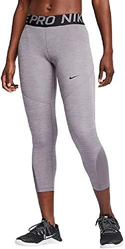Nike Women's Pro 365 Crop Tight (Gunsmoke/HTR/Gunsmoke/Black, X-Small 20.5) image 1