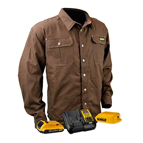 DEWALT DCHJ081 Heated Heavy Duty Shirt Jacket with 2.0Ah Battery and Charger image 1