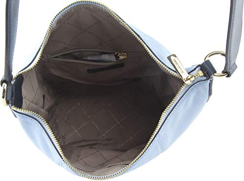 Michael Kors Women's Brooke Medium Suede Shoulder Bag in Light Sky Multi, Style 35T0GOKM8S image 5