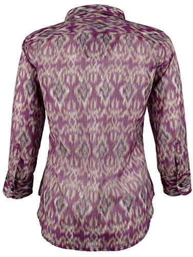 Women's Petite Ikat Printed Button Down Blouse Top image https://images.buyr.com/vxRDQnpH_DKE2NXghT4EfA.jpg1