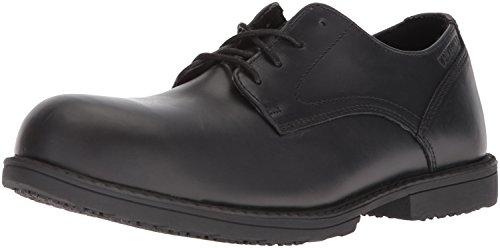 WOLVERINE Men's Bedford Steel-Toe Oxford SR Industrial Shoe, Black, 8 Extra Wide US image 1