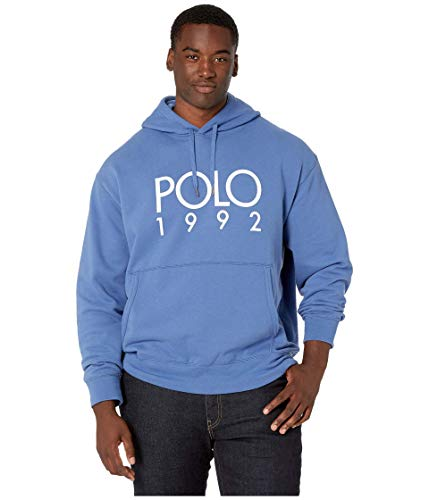 Polo Ralph Lauren Big & Tall Big & Tall Long Sleeve Magic Cotton-Blend Graphic Hoodie Bastille Blue 3XB image 1