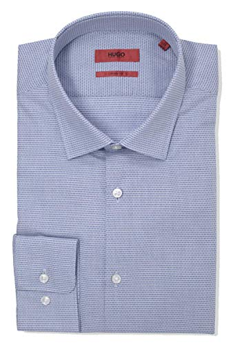 Hugo Boss Men's Mabel Sharp Fit Tonal Check Dress Shirt (17 x 34/35, Navy) image https://images.buyr.com/wiEn5Q2Bpge5FaOe30G0Pg.jpg1